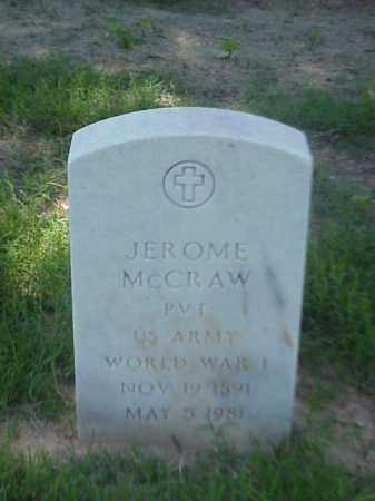 MCCRAW (VETERAN WWI), JEROME - Pulaski County, Arkansas | JEROME MCCRAW (VETERAN WWI) - Arkansas Gravestone Photos