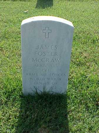 MCCRAW (VETERAN WWII), JAMES FOSTER - Pulaski County, Arkansas | JAMES FOSTER MCCRAW (VETERAN WWII) - Arkansas Gravestone Photos