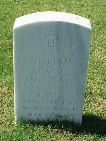 MCCRAY (VETERAN WWI), WILLIAM FRED - Pulaski County, Arkansas | WILLIAM FRED MCCRAY (VETERAN WWI) - Arkansas Gravestone Photos