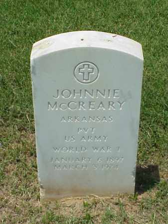 MCCREARY (VETERAN WWI), JOHNNIE - Pulaski County, Arkansas | JOHNNIE MCCREARY (VETERAN WWI) - Arkansas Gravestone Photos
