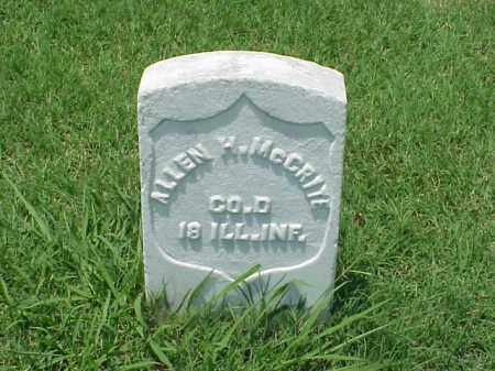 MCCRITE (VETERAN UNION), ALLEN H - Pulaski County, Arkansas | ALLEN H MCCRITE (VETERAN UNION) - Arkansas Gravestone Photos