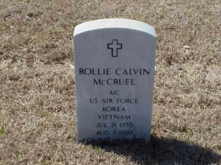 MCCRUEL (VETERAN 2 WARS), ROLLIE CALVIN - Pulaski County, Arkansas | ROLLIE CALVIN MCCRUEL (VETERAN 2 WARS) - Arkansas Gravestone Photos
