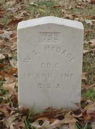MCDADE (VETERAN CSA), W S - Pulaski County, Arkansas | W S MCDADE (VETERAN CSA) - Arkansas Gravestone Photos