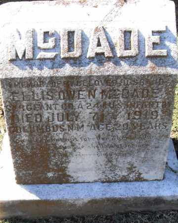 MCDADE (VETERAN), ELLIS OWEN - Pulaski County, Arkansas | ELLIS OWEN MCDADE (VETERAN) - Arkansas Gravestone Photos