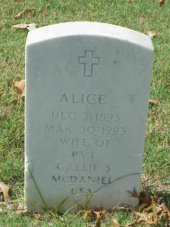 MCDANIEL, ALICE - Pulaski County, Arkansas | ALICE MCDANIEL - Arkansas Gravestone Photos