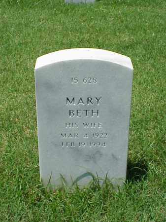 MCDANIEL, MARY BETH - Pulaski County, Arkansas | MARY BETH MCDANIEL - Arkansas Gravestone Photos