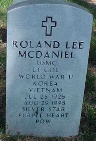 MCDANIEL (VETERAN 3 WARS POW), ROLAND LEE - Pulaski County, Arkansas | ROLAND LEE MCDANIEL (VETERAN 3 WARS POW) - Arkansas Gravestone Photos