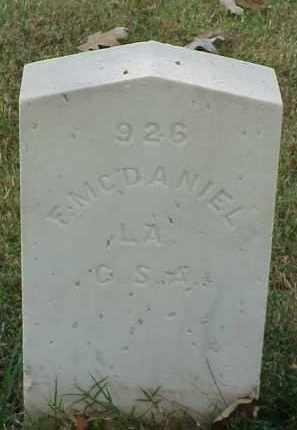 MCDANIEL (VETERAN CSA), F - Pulaski County, Arkansas | F MCDANIEL (VETERAN CSA) - Arkansas Gravestone Photos