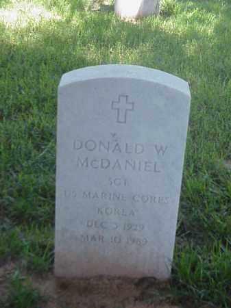MCDANIEL (VETERAN KOR), DONALD W - Pulaski County, Arkansas | DONALD W MCDANIEL (VETERAN KOR) - Arkansas Gravestone Photos