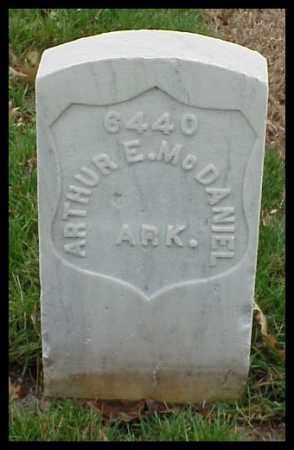 MCDANIEL (VETERAN SAW), ARTHUR E - Pulaski County, Arkansas | ARTHUR E MCDANIEL (VETERAN SAW) - Arkansas Gravestone Photos