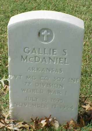 MCDANIEL (VETERAN WWI), GALLIE S - Pulaski County, Arkansas | GALLIE S MCDANIEL (VETERAN WWI) - Arkansas Gravestone Photos