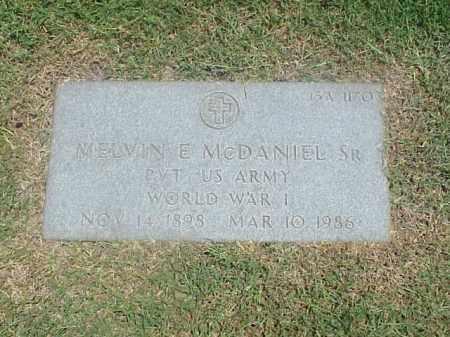 MCDANIEL, SR (VETERAN WWI), MELVIN E - Pulaski County, Arkansas | MELVIN E MCDANIEL, SR (VETERAN WWI) - Arkansas Gravestone Photos
