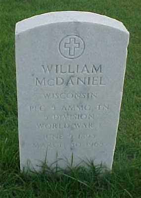 MCDANIEL (VETERAN WWI), WILLIAM - Pulaski County, Arkansas | WILLIAM MCDANIEL (VETERAN WWI) - Arkansas Gravestone Photos