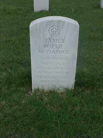MCDANIEL (VETERAN WWII), JAMES WILLIE - Pulaski County, Arkansas | JAMES WILLIE MCDANIEL (VETERAN WWII) - Arkansas Gravestone Photos