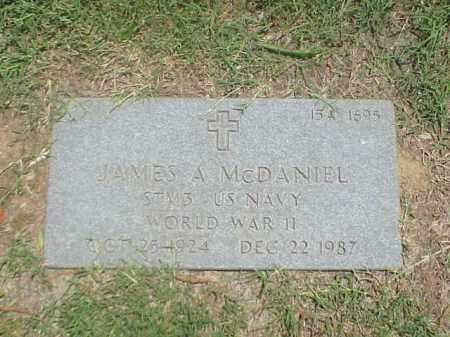 MCDANIEL (VETERAN WWII), JAMES A - Pulaski County, Arkansas | JAMES A MCDANIEL (VETERAN WWII) - Arkansas Gravestone Photos