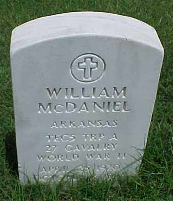 MCDANIEL (VETERAN WWII), WILLIAM - Pulaski County, Arkansas | WILLIAM MCDANIEL (VETERAN WWII) - Arkansas Gravestone Photos