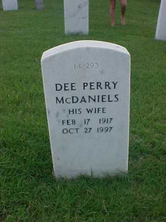 MCDANIELS, DEE PERRY - Pulaski County, Arkansas | DEE PERRY MCDANIELS - Arkansas Gravestone Photos