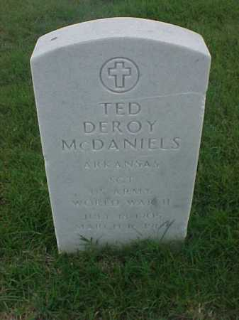 MCDANIELS (VETERAN WWII), TED DEROY - Pulaski County, Arkansas   TED DEROY MCDANIELS (VETERAN WWII) - Arkansas Gravestone Photos