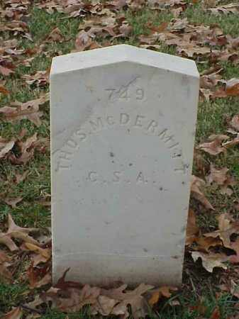 MCDERMITT (VETERAN CSA), THOMAS - Pulaski County, Arkansas | THOMAS MCDERMITT (VETERAN CSA) - Arkansas Gravestone Photos