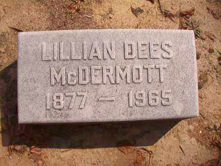 DEES MCDERMOTT, LILLIAN - Pulaski County, Arkansas | LILLIAN DEES MCDERMOTT - Arkansas Gravestone Photos