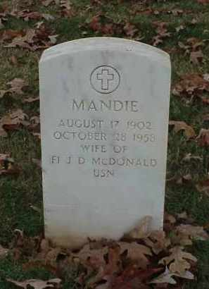 MCDONALD, MANDIE - Pulaski County, Arkansas | MANDIE MCDONALD - Arkansas Gravestone Photos
