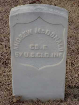 MCDONALD (VETERAN UNION), ANDREW - Pulaski County, Arkansas | ANDREW MCDONALD (VETERAN UNION) - Arkansas Gravestone Photos