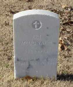 MCDONALD (VETERAN WWI), ELI - Pulaski County, Arkansas | ELI MCDONALD (VETERAN WWI) - Arkansas Gravestone Photos