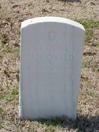 MCDONALD (VETERAN WWI), GEORGE - Pulaski County, Arkansas | GEORGE MCDONALD (VETERAN WWI) - Arkansas Gravestone Photos