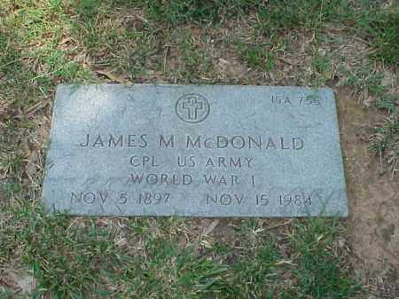 MCDONALD (VETERAN WWI), JAMES M - Pulaski County, Arkansas | JAMES M MCDONALD (VETERAN WWI) - Arkansas Gravestone Photos