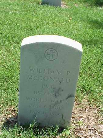 MCDONALD (VETERAN WWI), WILLIAM P - Pulaski County, Arkansas | WILLIAM P MCDONALD (VETERAN WWI) - Arkansas Gravestone Photos