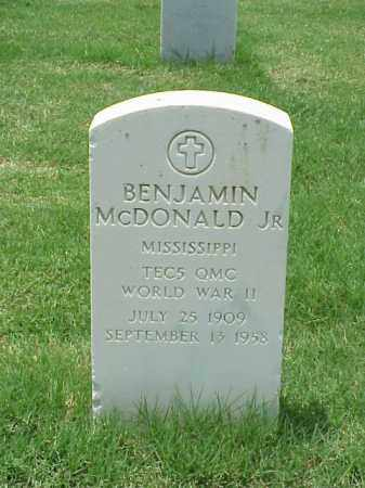 MCDONALD, JR  (VETERAN WWII), BENJAMIN - Pulaski County, Arkansas | BENJAMIN MCDONALD, JR  (VETERAN WWII) - Arkansas Gravestone Photos
