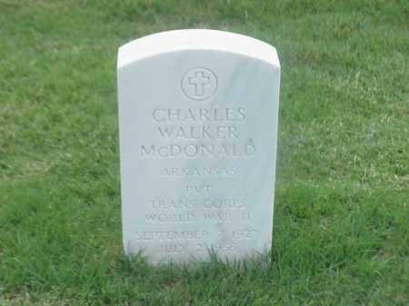 MCDONALD (VETERAN WWII), CHARLES WALKER - Pulaski County, Arkansas | CHARLES WALKER MCDONALD (VETERAN WWII) - Arkansas Gravestone Photos