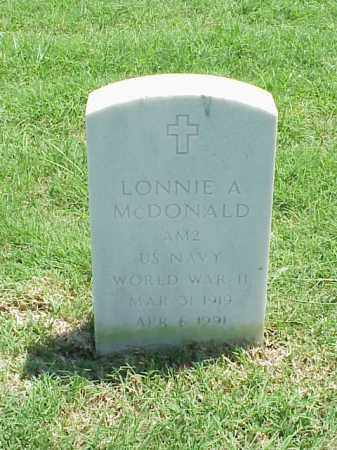 MCDONALD (VETERAN WWII), LONNIE A - Pulaski County, Arkansas | LONNIE A MCDONALD (VETERAN WWII) - Arkansas Gravestone Photos