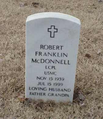 MCDONNELL  (VETERAN), ROBERT FRANKLIN - Pulaski County, Arkansas | ROBERT FRANKLIN MCDONNELL  (VETERAN) - Arkansas Gravestone Photos