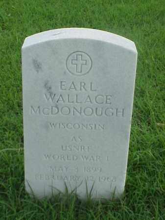 MCDONOUGH (VETERAN WWI), EARL WALLACE - Pulaski County, Arkansas | EARL WALLACE MCDONOUGH (VETERAN WWI) - Arkansas Gravestone Photos