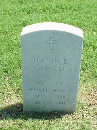 MCDOWELL, JR (VETERAN WWII), HANIBLE - Pulaski County, Arkansas | HANIBLE MCDOWELL, JR (VETERAN WWII) - Arkansas Gravestone Photos