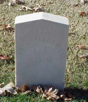 MCDOWELL (VETERAN CSA), GEORGE W - Pulaski County, Arkansas | GEORGE W MCDOWELL (VETERAN CSA) - Arkansas Gravestone Photos