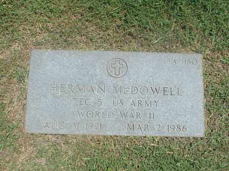 MCDOWELL (VETERAN WWII), HERMAN - Pulaski County, Arkansas | HERMAN MCDOWELL (VETERAN WWII) - Arkansas Gravestone Photos