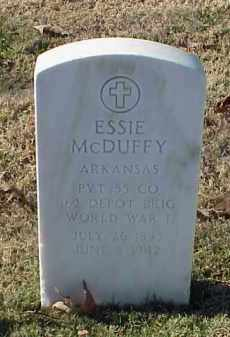 MCDUFFY (VETERAN WWI), ESSIE - Pulaski County, Arkansas | ESSIE MCDUFFY (VETERAN WWI) - Arkansas Gravestone Photos