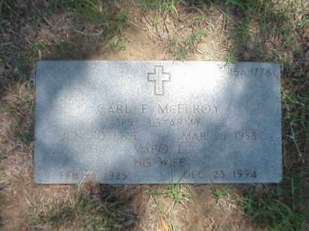 MCELROY (VETERAN WWII), CARL E - Pulaski County, Arkansas | CARL E MCELROY (VETERAN WWII) - Arkansas Gravestone Photos