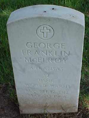 MCELROY (VETERAN WWII), GEORGE FRANKLIN - Pulaski County, Arkansas | GEORGE FRANKLIN MCELROY (VETERAN WWII) - Arkansas Gravestone Photos