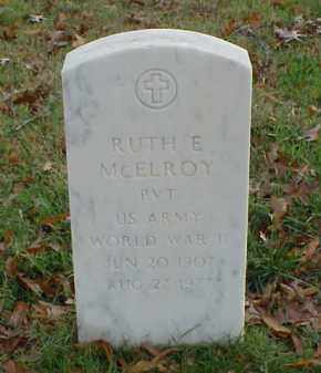 MCELROY (VETERAN WWII), RUTH E - Pulaski County, Arkansas | RUTH E MCELROY (VETERAN WWII) - Arkansas Gravestone Photos