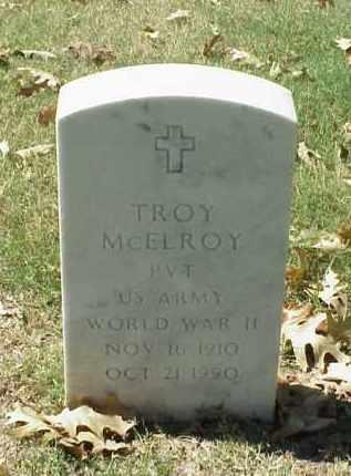 MCELROY (VETERAN WWII), TROY - Pulaski County, Arkansas | TROY MCELROY (VETERAN WWII) - Arkansas Gravestone Photos