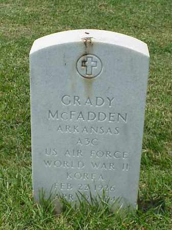 MCFADDEN (VETERAN 2 WARS), GRADY - Pulaski County, Arkansas | GRADY MCFADDEN (VETERAN 2 WARS) - Arkansas Gravestone Photos
