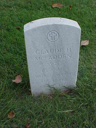 MCFADDEN (VETERAN WWII), CLAUDE H - Pulaski County, Arkansas | CLAUDE H MCFADDEN (VETERAN WWII) - Arkansas Gravestone Photos