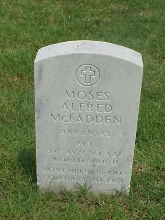 MCFADDEN (VETERAN WWII), MOSES ALFRED - Pulaski County, Arkansas | MOSES ALFRED MCFADDEN (VETERAN WWII) - Arkansas Gravestone Photos