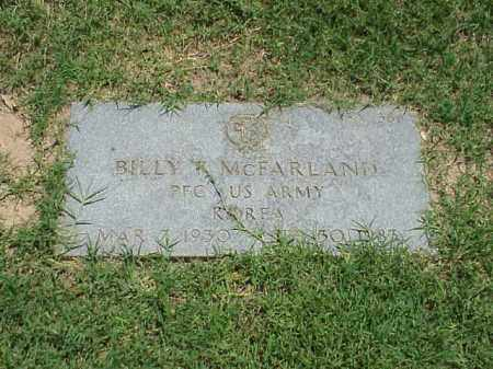 MCFARLAND (VETERAN KOR), BILLY F - Pulaski County, Arkansas | BILLY F MCFARLAND (VETERAN KOR) - Arkansas Gravestone Photos