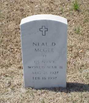 MCGEE (VETERAN WWII), NEAL D - Pulaski County, Arkansas | NEAL D MCGEE (VETERAN WWII) - Arkansas Gravestone Photos