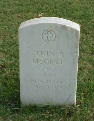 MCGHEE (VETERAN 2 WARS), JOHN ANDREW - Pulaski County, Arkansas | JOHN ANDREW MCGHEE (VETERAN 2 WARS) - Arkansas Gravestone Photos