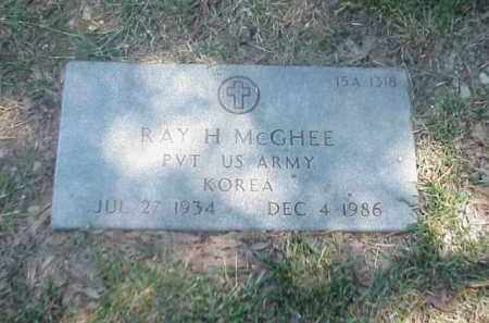 MCGHEE (VETERAN KOR), RAY H - Pulaski County, Arkansas | RAY H MCGHEE (VETERAN KOR) - Arkansas Gravestone Photos